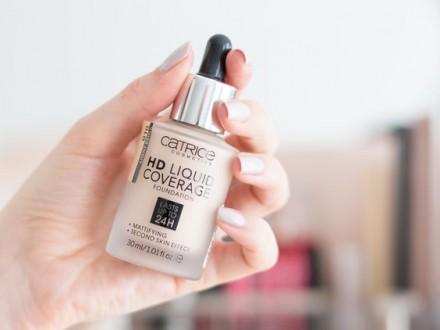 Тональная основа CATRICE HD Liquid Coverage Foundation 020 Rose Beige: фото
