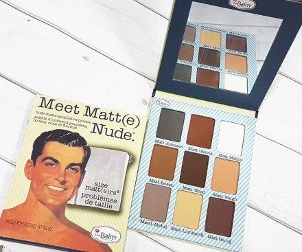 Матовые тени theBalm Meet Matte Nude: фото