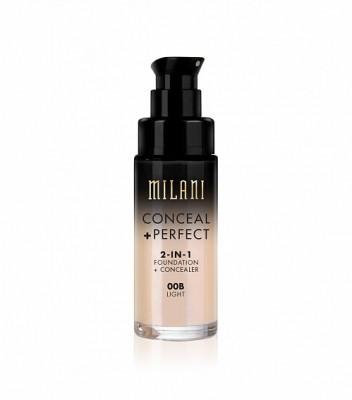 ТОНАЛЬНАЯ ОСНОВА + КОНСИЛЕР Milani Cosmetics CONCEAL + PERFECT 2-IN-1 FOUNDATION + CONCEALER 00B LIGHT: фото