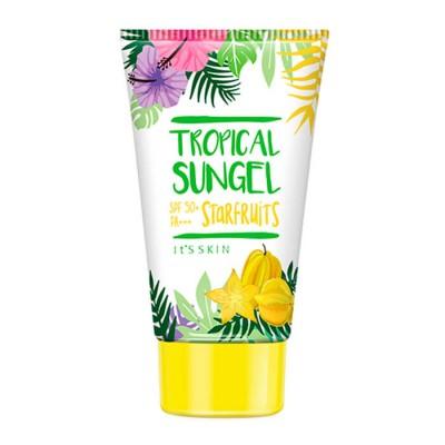 Солнцезащитный гель It's Skin Tropical Sun, звездный фрукт, 50 мл: фото