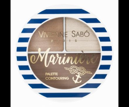 Палетка для скульптурирования лица Vivienne Sabo / Face contouring palette/ Palette contouring pour le visage Mariniere тон/shade 02: фото