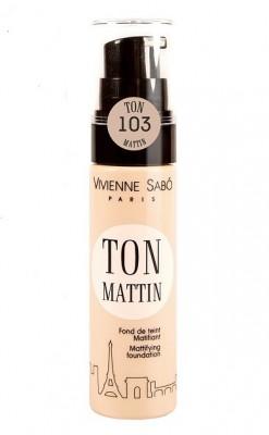 Матирующий тональный крем Vivienne Sabo/ Mattifying foundation/ Fond de teint Matifiant Ton Mattin тон/shade 103: фото