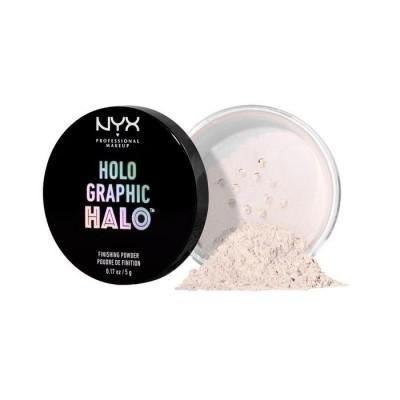Рассыпчатая пудра NYX Professional Makeup Holographic Halo Finishing Powder - Mermazing 01: фото