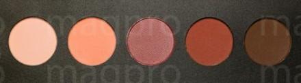 Компактные тени палитра Maq Pro fard sec. Коралово-бордовая: фото