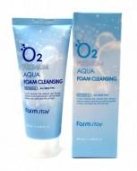 Пенка очищающая с кислородом FARMSTAY O2 premium aqua foam cleansing 100 мл: фото