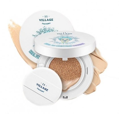 Кушон увлажняющий VILLAGE 11 FACTORY Real Fit Moisture Cushion SPF50+ № 13 Light Вeige: фото