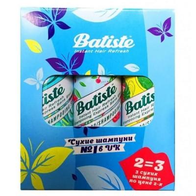 Набор BATISTE Cherry 50мл+Tropical 50мл+Original 50 мл Третий шампунь в подарок: фото
