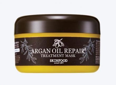 Маска для волос с маслом арганы SKINFOOD Argan Oil Repair+ Treatment Mask: фото