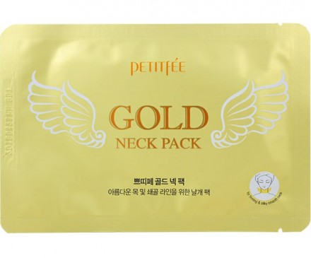 Патчи гидрогелевые для шеи PETITFEE Gold neck patch 10г: фото