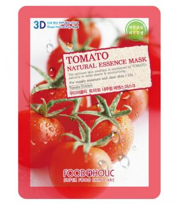 Тканевая 3D маска с томатом для увлажнения и улучшения цвета лица FoodaHolic Tomato Natural Essence Mask 23 мл: фото