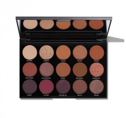 Палетка теней MORPHE 15N NIGHT MASTER EYESHADOW PALETTE: фото
