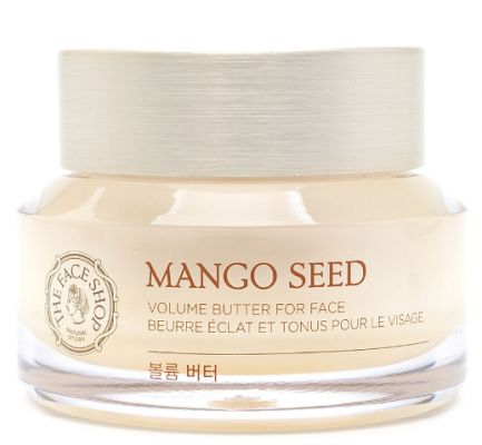Крем на основе масла манго THE FACE SHOP Mango seed volume butter for face 50 мл: фото
