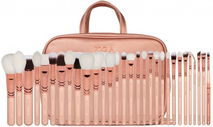 Набор кистей ZOEVA MAKEUP ARTIST ZOE BAG ROSE GOLDEN VOL. 2: фото