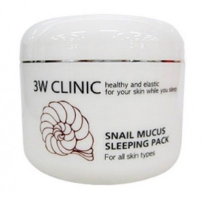 Маска ночная восстанавливающая с муцином улитки 3W CLINIC Snail mucus sleeping pack 100мл: фото