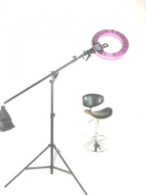 Кольцевая лампа Stellar LED Diva Ring light + Boom Stand Gold: фото