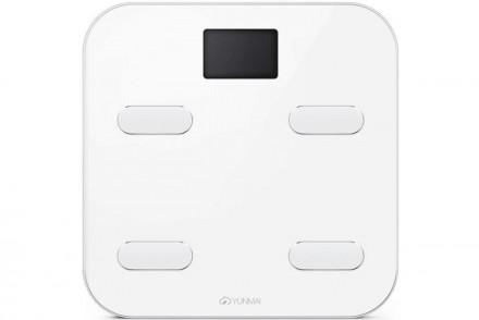 Умные весы YUNMAI color, белые: фото
