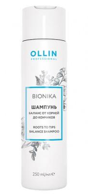 Шампунь баланс от корней до кончиков OLLIN BioNika Roots To Tips Balance Shampoo 250мл: фото