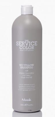 Шампунь-корректор для обесцвеченных волос NOOK Service Сolor NO YELLOW Shampoo 1000 мл: фото