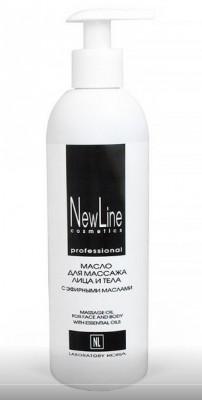 Масло для массажа лица и тела с эфирными маслами NEW LINE 300мл: фото