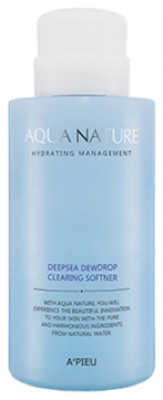 Софтнер для лица очищающий A'PIEU Aqua Nature Deep-Sea Dewdrop Clearing Softener: фото