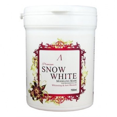 Маска альгинатная осветляющая банка Anskin Snow White Modeling Mask / container 240гр/700мл: фото