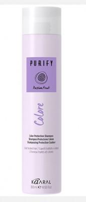 Шампунь для окрашенных волос на основе фруктовых кислот ежевики Kaaral Purify-Colore Shampoo 250мл: фото