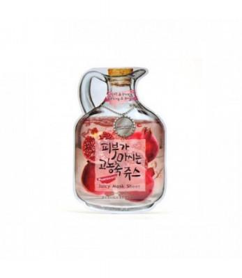 Маска тканевая фруктовая Baviphat Pomegranate Juicy Mask Sheet Lifting & Bright 23гр: фото
