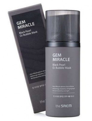 Маска кислородная с экстрактом жемчуга THE SAEM Gem Miracle Black Pearl O2 Bubble Mask 105г: фото