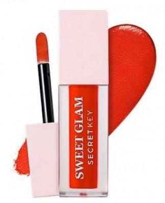 Тинт для губ вельветовый SECRET KEY Sweet Glam Velvet Tint 01 Red more 5г: фото