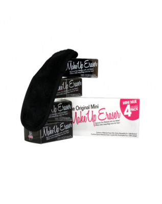 Мини-салфетка для снятия макияжа черная MakeUp Eraser 4 шт: фото