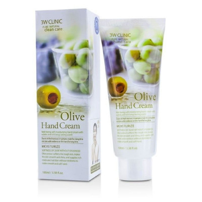 Крем для рук увлажняющий с экстрактом оливы 3W CLINIC Moisturizing Olive Hand Cream: фото