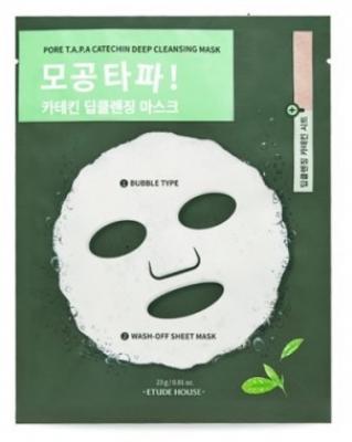 Маска кислородная для очищения и сужения пор Etude House Pore T.A.P.A Catechin Deep Cleansing Mask: фото