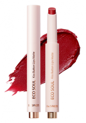 Помада для губ матовая THE SAEM Eco Soul Kiss Button Lips Matte 15 Volcano 2гр: фото