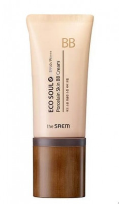 BB-крем THE SAEM Eco Soul Porcelain Skin BB Cream 01 Light Beige 45мл: фото
