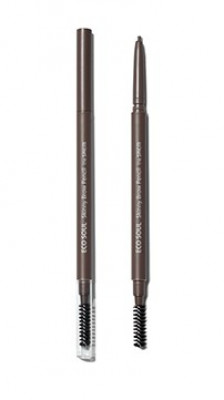 Карандаш для бровей Eco Soul Skinny Brow Pencil 03 Dark Brown: фото