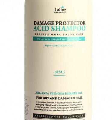 Шампунь для волос с аргановым маслом La'dor Damage Protector Acid Shampoo 530мл: фото