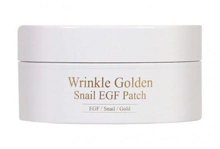 Патчи гидрогелевые с EGF, золотом и муцином улитки THE SKIN HOUSE Wrinkle Golden Snail EGF Patch 60шт: фото