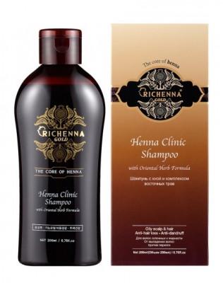 Шампунь восстанавливающий с хной Richenna Henna Clinic Shampoo 200 мл: фото
