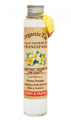 Гель для душа безсульфатный с экстрактом франжипани ORGANIC TAI Natural Shower Gel Frangipani 100 мл: фото