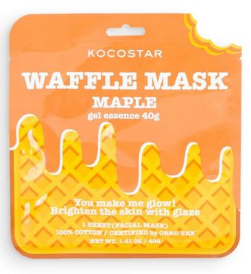 Маска вафельная омолаживающая с экстрактом кленового сиропа Kocostar Waffle Mask Maple 40 г: фото