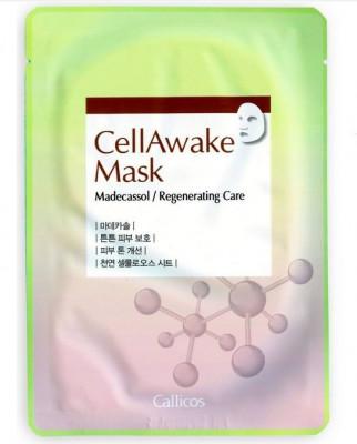 Тканевая маска с мадекассосидом Callicos CellAwake Madecassol 25 г: фото