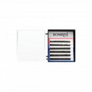 Ресницы Bombini Черные, 6 линий, изгиб D - mini-MIX 9-11 0.07: фото