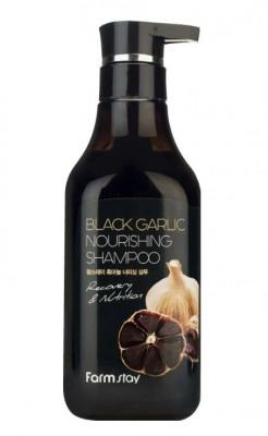 Шампунь питательный с экстрактом чёрного чеснока FarmStay Black Garlic Nourishing Shampoo 530мл: фото