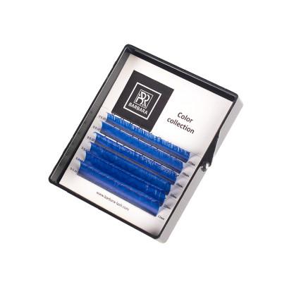 Цветные ресницы BARBARA (синие) МИНИ-МИКС (6 линий) (C 0.07 7-12mm): фото