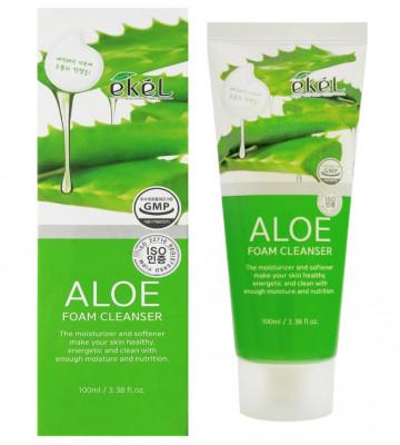 Пена для умывания алоэ Ekel Foam Cleanser Aloe 100мл: фото