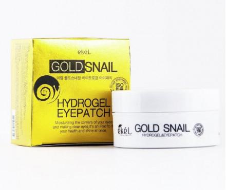 Патчи для глаз с экстрактом улиточного муцина и Золотом Ekel Eye Patch Gold Snail 60 шт: фото
