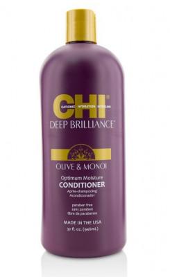 Кондиционер Оптимальное Увлажнение CHI Deep Brilliance Olive & Monoi Optimum Moisture Conditioner 946мл: фото