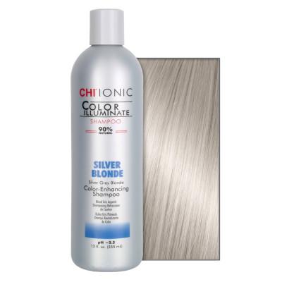 Шампунь тонирующий для блондинок CHI Color Illuminate Silver Blonde Shampoo 355 мл: фото