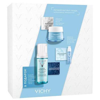 Набор Vichy Aqualia Thermal сезонный: Легкий крем 50мл + Пробуждающий бальзам для век15мл + Очищаяющая Пенка 150мл (ПОДАРОК): фото