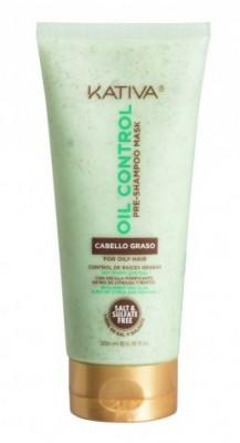 """Маска """"Контроль"""" перед мытьем шампунем для жирных волос Kativa OIL CONTROL 200мл: фото"""